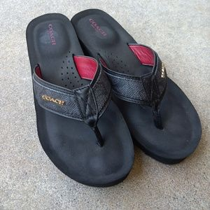 Coach Jolene Wedge Flip Flops